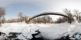Podul Suspendat din Parcul Nicolae Romanescu - iarna